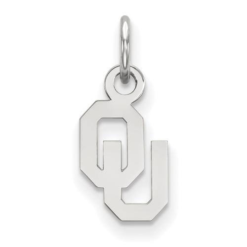 Sterling Silver 3/8in University of Oklahoma Pendant