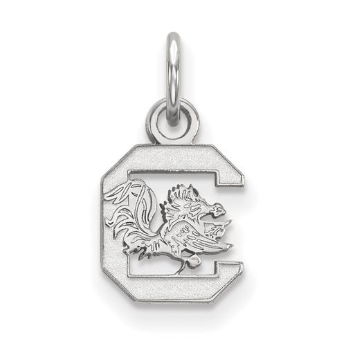 Sterling Silver 3/8in University of South Carolina Pendant