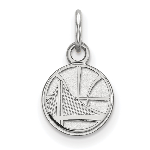 Sterling Silver 3/8in Golden State Warriors Pendant