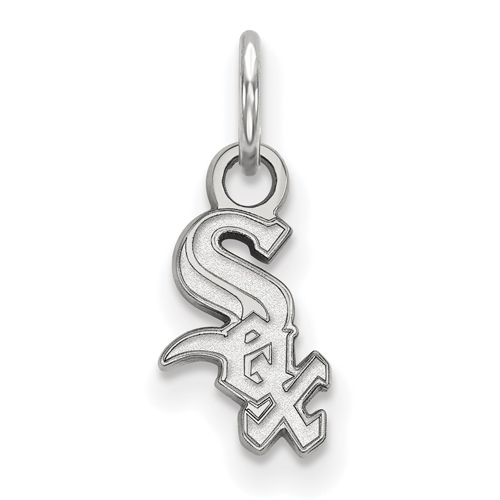 Sterling Silver 3/8in Chicago White Sox Logo Pendant