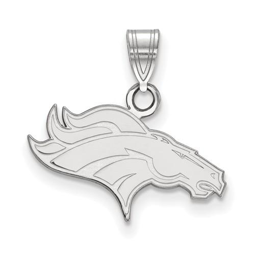 Sterling Silver Small Denver Broncos Pendant