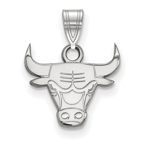 Sterling Silver 3/8in Chicago Bulls Pendant