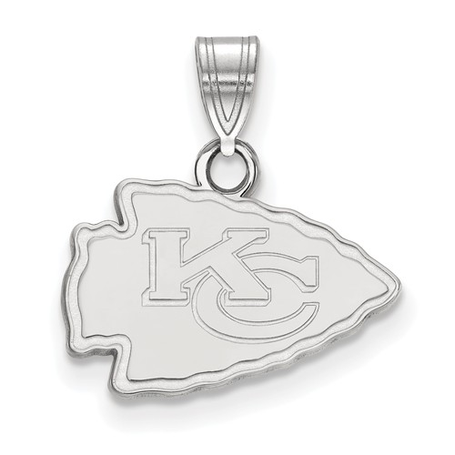 Sterling Silver 1/2in Kansas City Chiefs Pendant