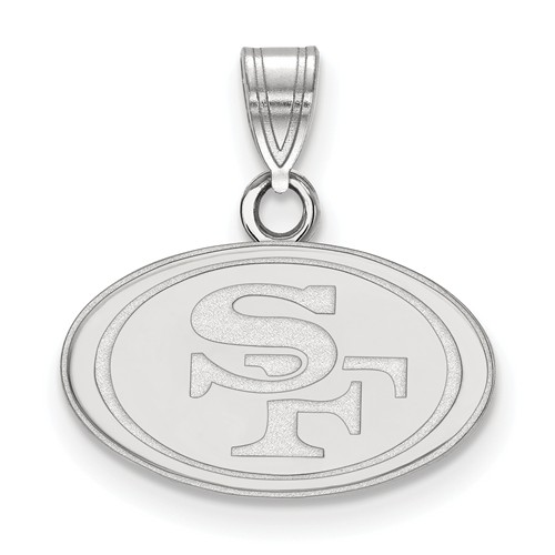 Sterling Silver 1/2in San Francisco 49ers Pendant