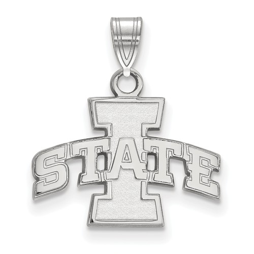 Iowa State University Pendant 1/2in Sterling Silver