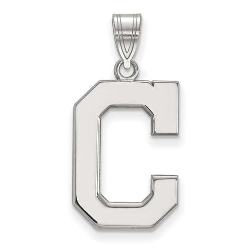Sterling Silver 3/4in Cleveland Indians C Pendant