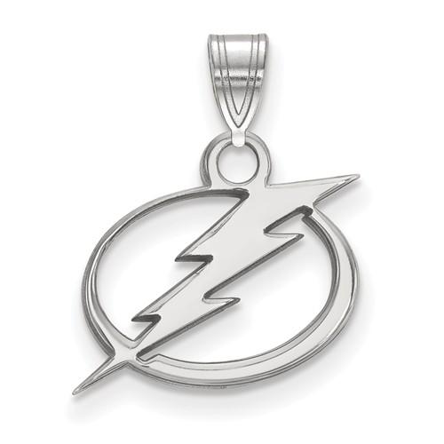 14k White Gold 1/2in Tampa Bay Lightning Pendant