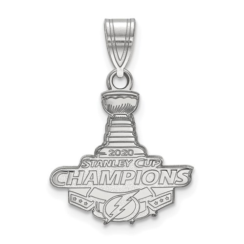 Sterling Silver Tampa Bay Lightning 2020 Stanley Cup Pendant 5/8in