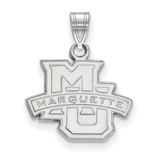 Marquette University Logo Pendant 1/2in Sterling Silver