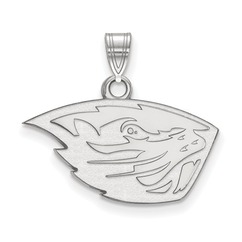 Sterling Silver 1/2in Oregon State University Pendant