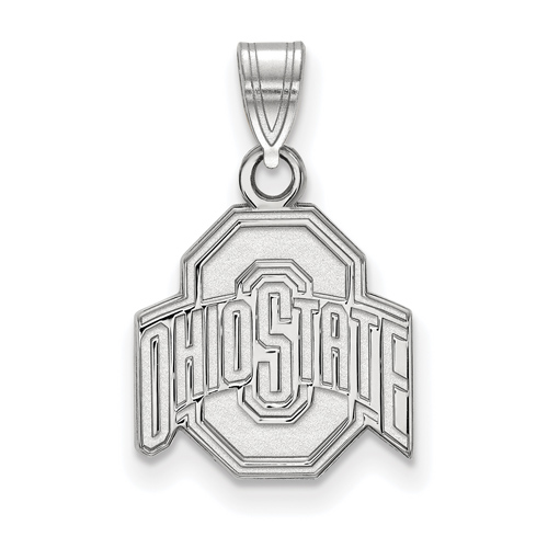 Sterling Silver 1/2in Ohio State University Logo Pendant