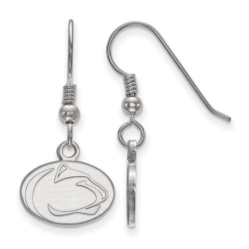 Sterling Silver Penn State University Extra Small Dangle Earrings