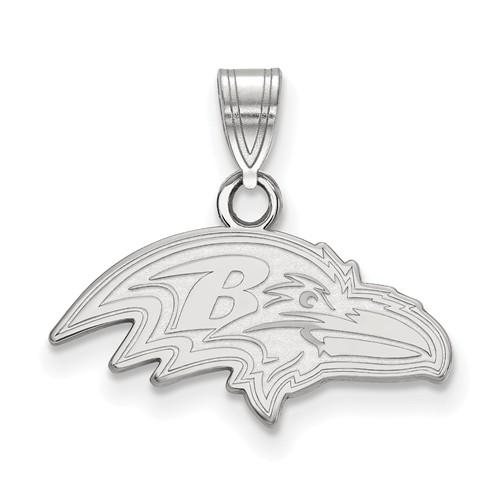 Sterling Silver 5/8in Baltimore Ravens Pendant