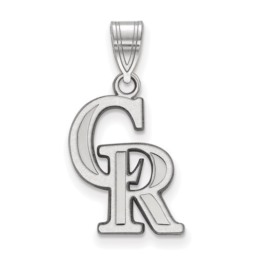 Sterling Silver 5/8in Colorado Rockies Arched Pendant