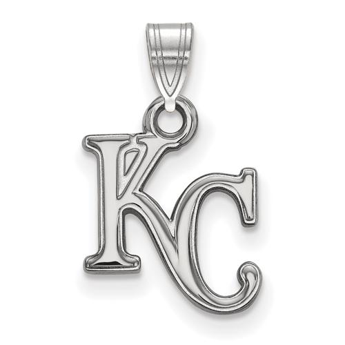 Sterling Silver 5/8in Kansas City Royals KC Pendant