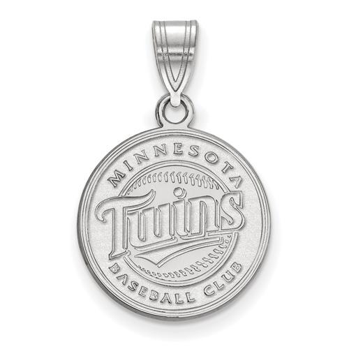 Sterling Silver 5/8in Minnesota Twins Baseball Club Pendant