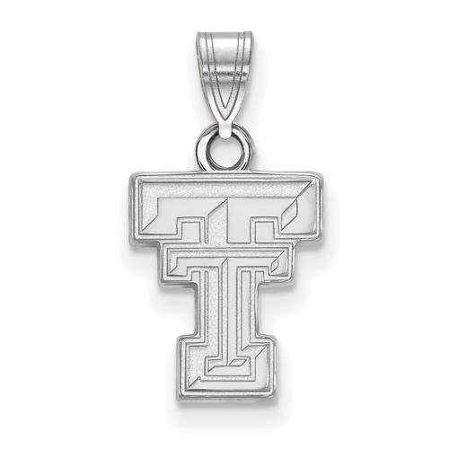 Sterling Silver 1/2in Texas Tech University Logo Pendant