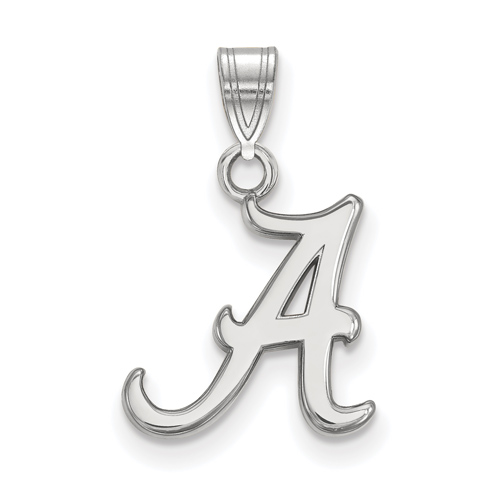 Sterling Silver 1/2in University of Alabama A Pendant