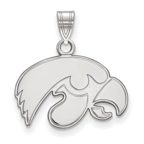 University of Iowa Tigerhawk Pendant 1/2in Sterling Silver