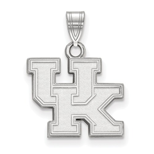 Sterling Silver 1/2in University of Kentucky UK Pendant