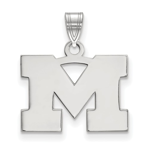 Sterling Silver 1/2in University of Michigan M Pendant