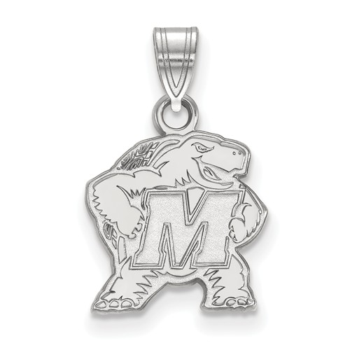 Sterling Silver 1/2in University of Maryland Terrapin Pendant