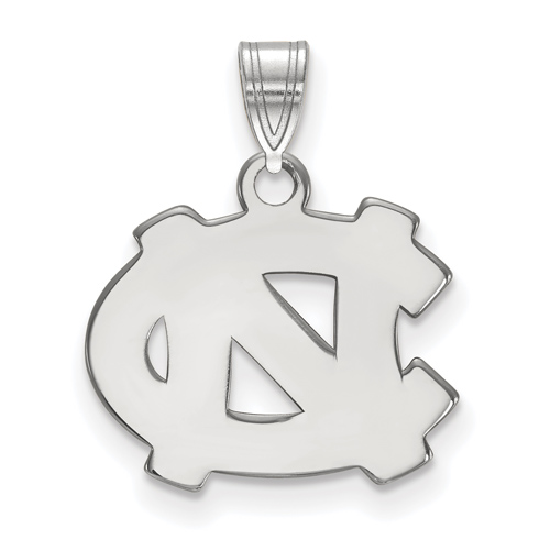 Silver 1/2in University of North Carolina Wilmington Disc Pendant