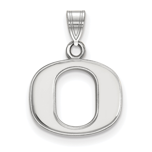 Sterling Silver 1/2in University of Oregon O Pendant