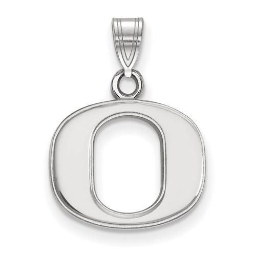 Sterling Silver 1/2in University of Oregon O Pendant