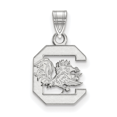 Sterling Silver 1/2in University of South Carolina Pendant