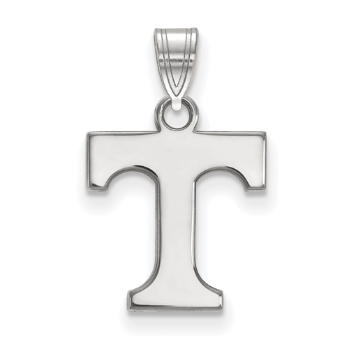 Sterling Silver 1/2in University of Tennessee T Pendant