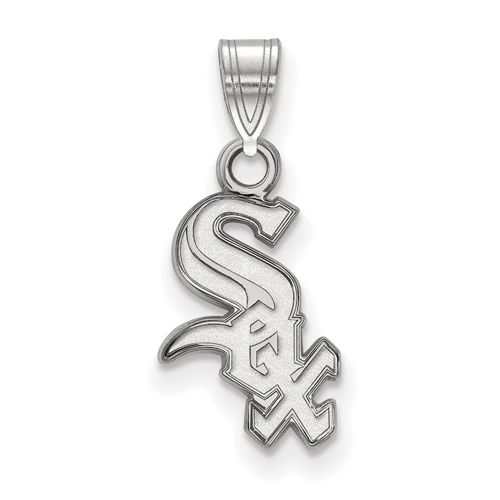 Sterling Silver 1/2in Chicago White Sox Pendant