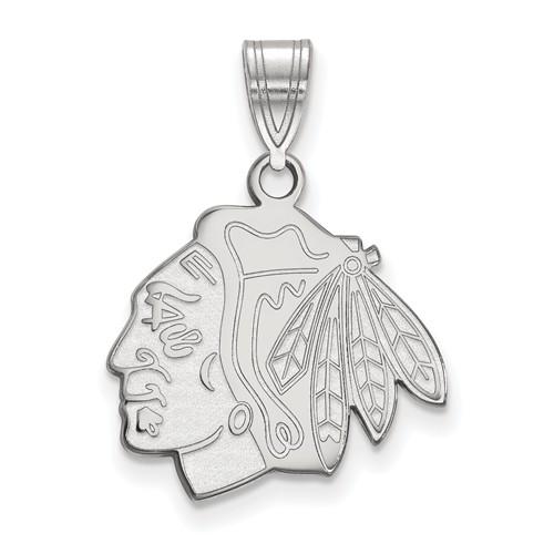 Chicago Blackhawks Pendant 5/8in Sterling Silver
