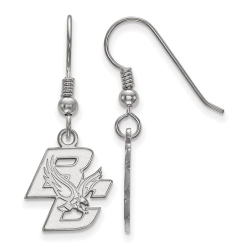 Sterling Silver Boston College Dangle Earrings