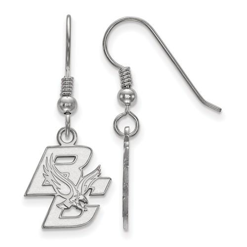 Sterling Silver Boston College Dangle Earrings