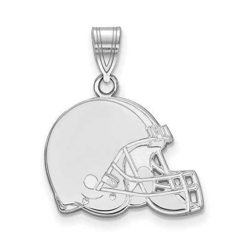 14k White Gold 5/8in Cleveland Browns Pendant