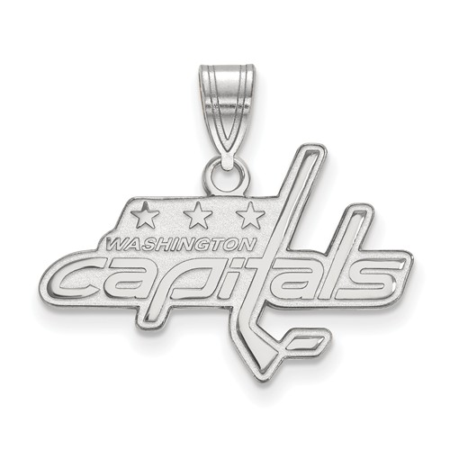 Sterling Silver 5/8in Washington Capitals Pendant