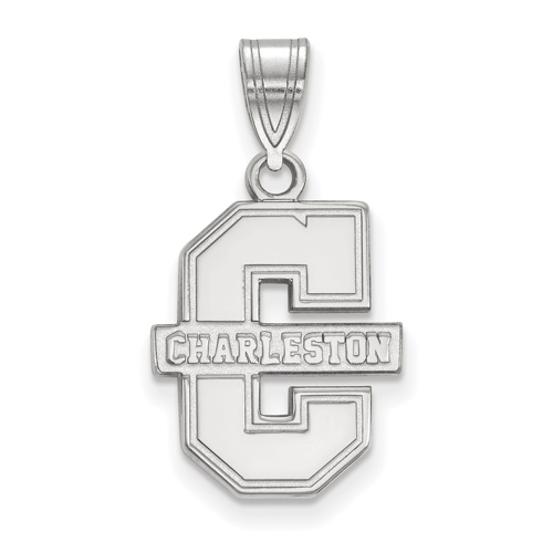 College of Charleston Logo Pendant 5/8in Sterling Silver