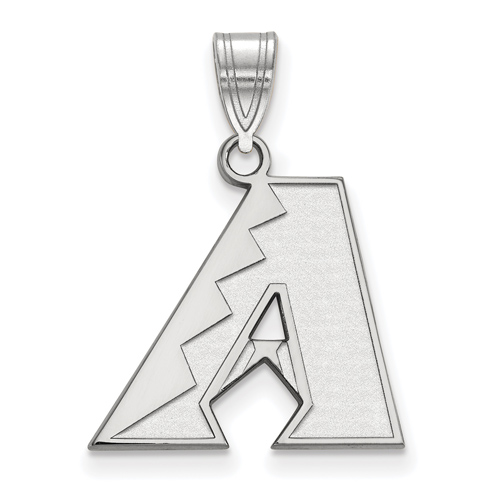 Sterling Silver 5/8in Arizona Diamondbacks A  Pendant