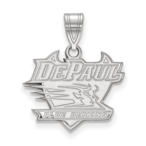 DePaul University Logo Pendant 5/8in Sterling Silver