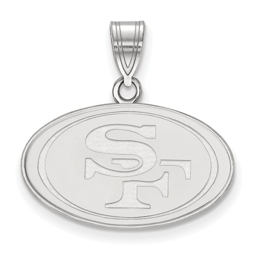 Sterling Silver 5/8in San Francisco 49ers Pendant