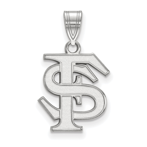 Sterling Silver 5/8in Florida State University FS Pendant