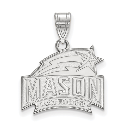 Sterling Silver 5/8in George Mason University Patriots Pendant