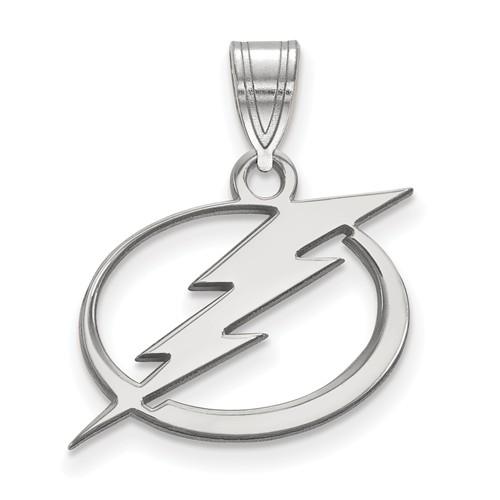 Sterling Silver 5/8in Tampa Bay Lightning Pendant