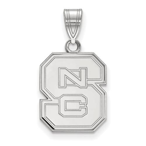 Sterling Silver 5/8in North Carolina State University Block S Pendant