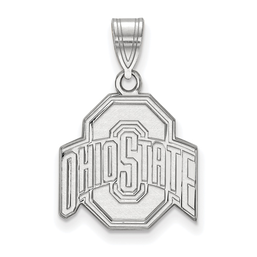 Sterling Silver 5/8in Ohio State University Logo Pendant