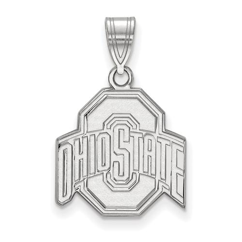 Sterling Silver 5/8in Ohio State University Logo Pendant