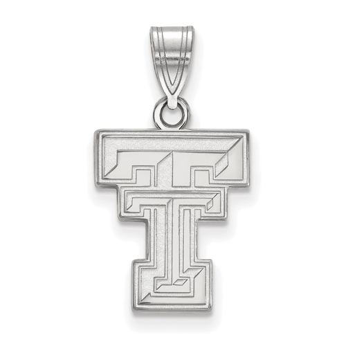 Sterling Silver 5/8in Texas Tech University Logo Pendant