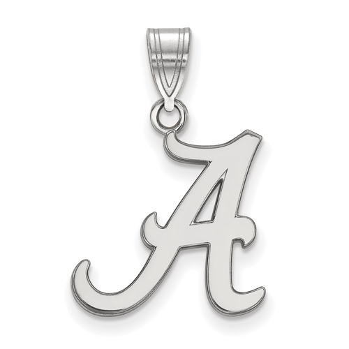 Sterling Silver 5/8in University of Alabama A Pendant