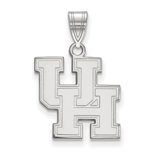Sterling Silver 5/8in University of Houston UH Pendant